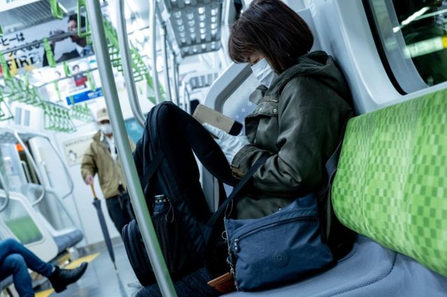 Японка в метро