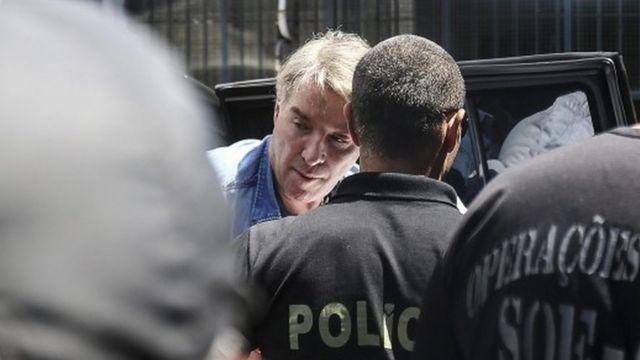 Eike Batista llegando a la prisión de Rio de Janeiro el 30 de enero de 2017.
