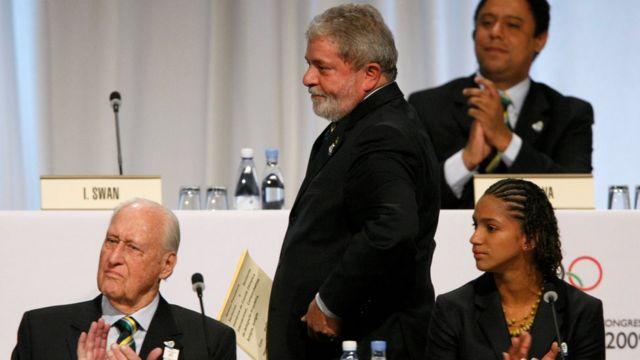 João Havelange e Lula em 2009, na apresentação da candidatura brasileira à Rio 2016