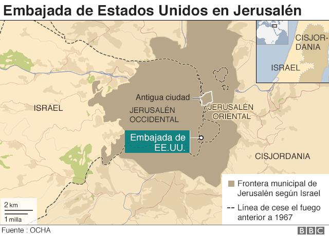 Mapa Jerusalén