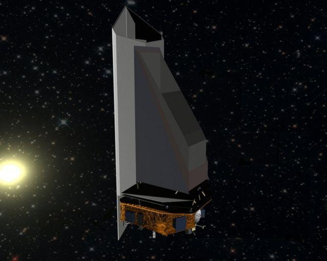 Ilustração do telescópio NeoCam