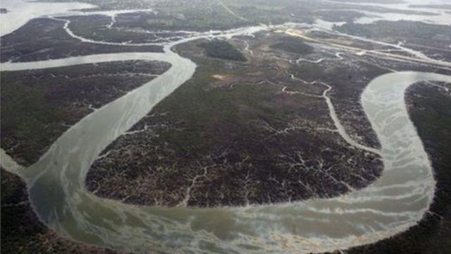 Vue du Delta du Niger, une région riche en pétrole