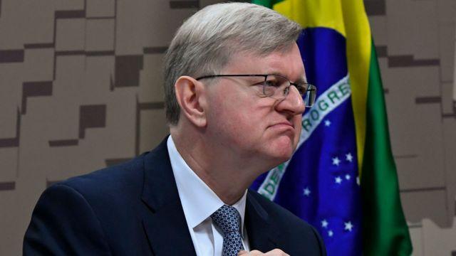 Nestor Forster durante sabatina no Senado