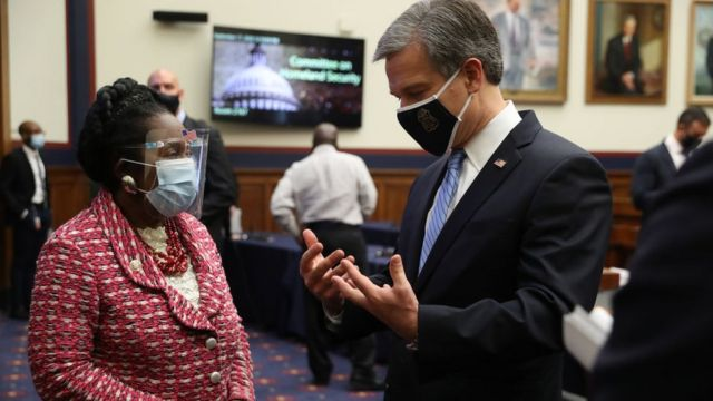 Miembros del Congreso de EE.UU. con mascarillas