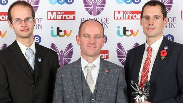 Joshua Bratchley, Jason Mallinson and Chris Jewell (left to right)