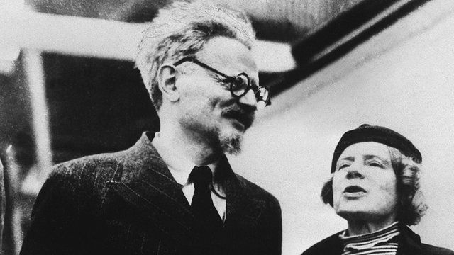 Leon Trotsky with his wife Natalia