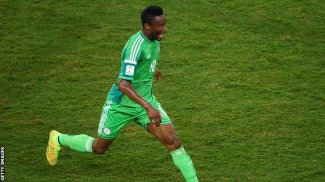 Le capitaine de l'équipe nigériane, John Obi Mikel.