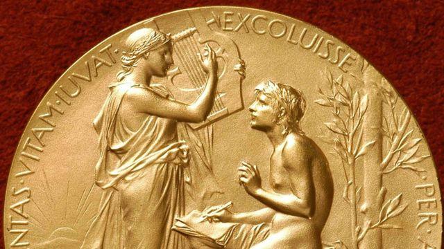 The Nobel Literature Prize medal