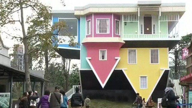 Bildergebnis für upside down house