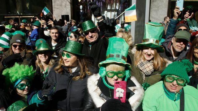 Celebration of Saint Patrick in New York.