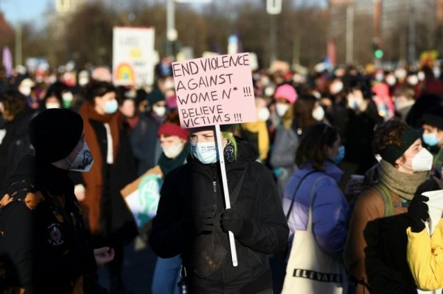 تظاهرات روز زن در شهر برلین آلمان