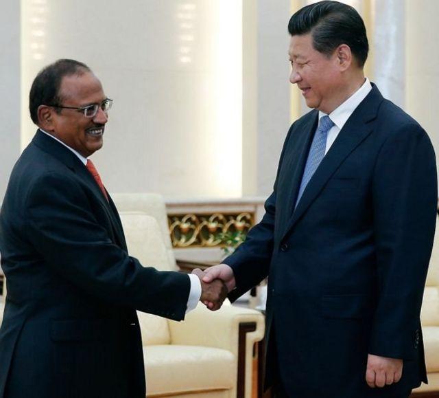 एनएसए अजीत डोभाल और चीन के राष्ट्रपति शी जिनपिंग