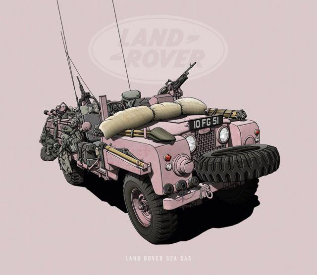 """Land Rover S2A SAS - """"Pantera Rosa"""""""