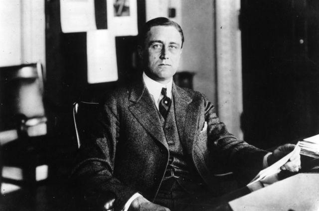 Franklin D. Roosevelt en 1920, antes de contraer polio.