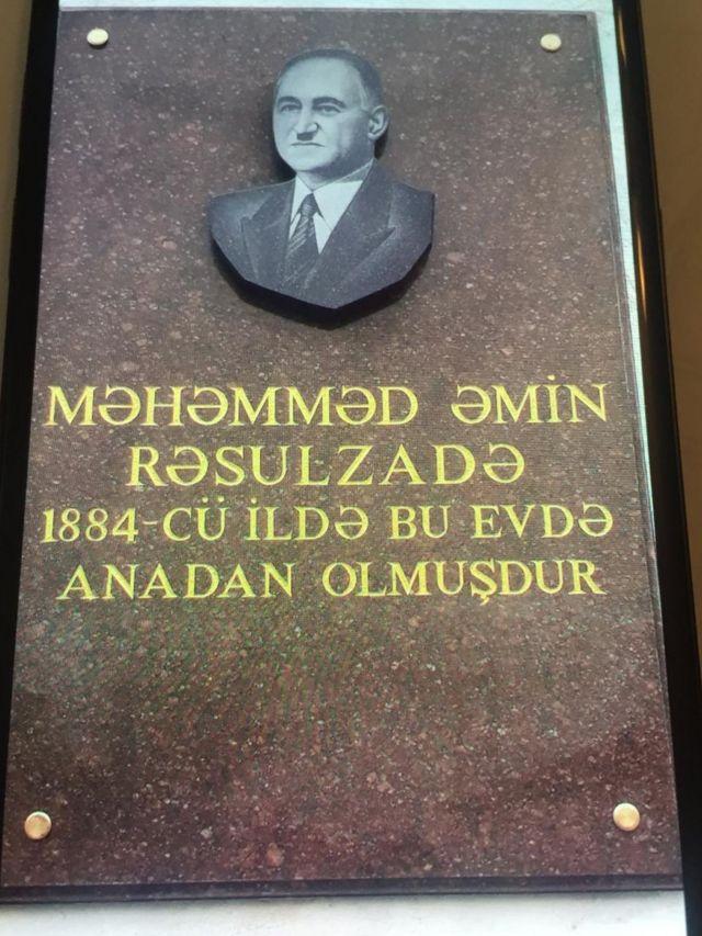 Azərbaycan Xalq Cümhuriyyətinin banisi Məhəmməd Əmin Rəzulzadənin ən yeni barelyefi