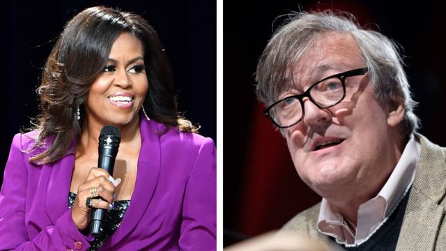 Michelle Obama and Stephen Fry help drive audiobook boom