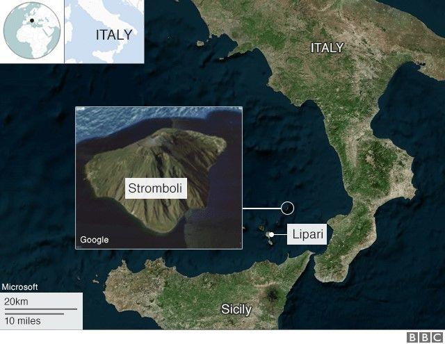 Map of Stromboli