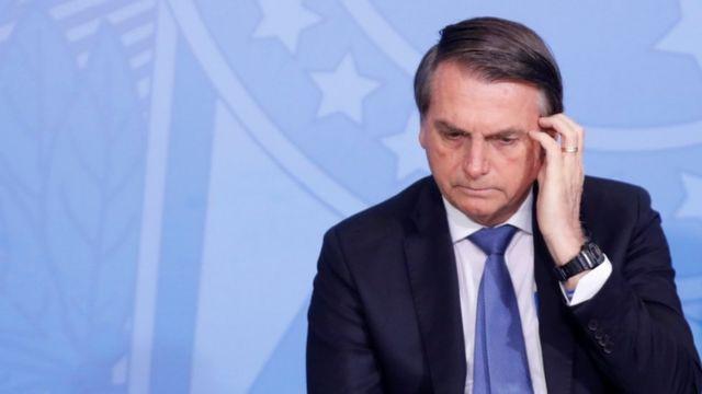 Bolsonaro durante evento no Palácio do Planalto em 5 de setembro de 2019
