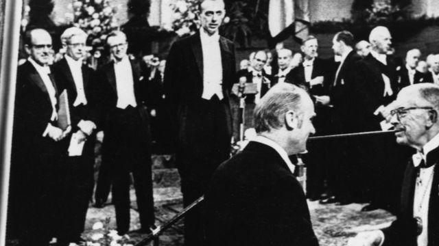 Вручение Нобелевской премии Уотсону и Крику, Осло, 1962 г.