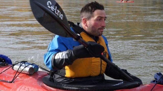 Ben Parkinson canoeing the Yukon River in Canada
