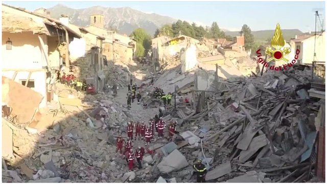 Amatrice Photo nowhere in amatrice safe to live in' after italy quake - bbc news