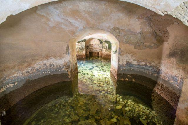 Blenheim Palace flooded room