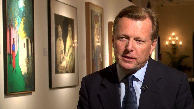 Sotheby's international chairman Robin Woodhead talks to the BBC