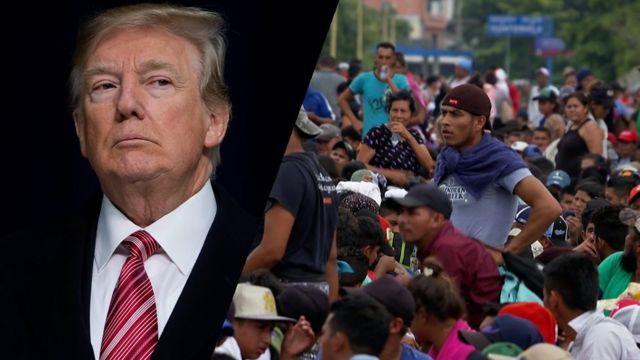 Trump ve göçmen kafilesi