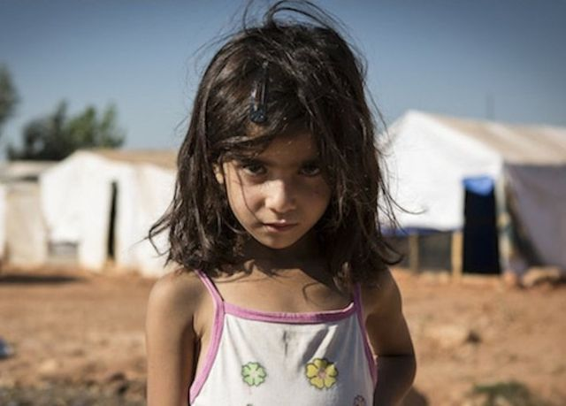 refugee girl photo