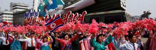 Desfile em Pyongyang