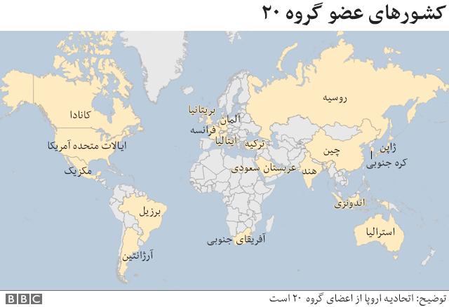 کشورهای عضو گروه ۲۰