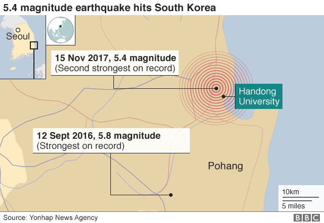 Map: Location of earthquake