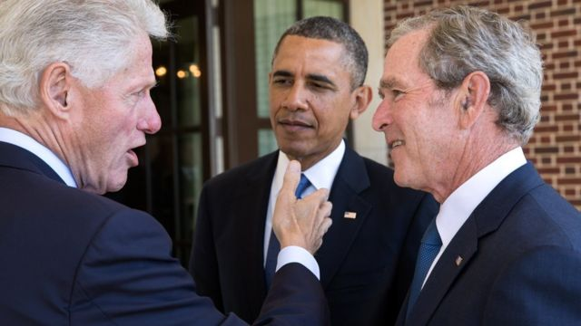 Апрель 2013 года. Президенты США: Билл Клинтон, Джордж Буш и Барак Обама