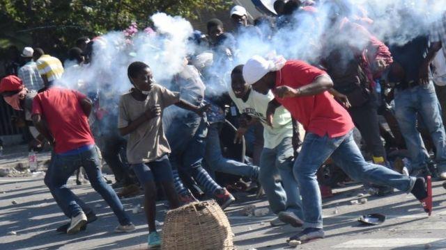 Протест в Порт-о-Принс