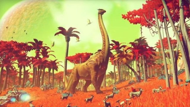 """No Man's Sky uses """"procedural generation"""" to create new worlds automatically"""