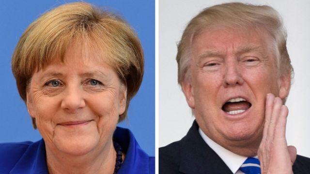 دونالد ترامب وأنغيلا ميركل