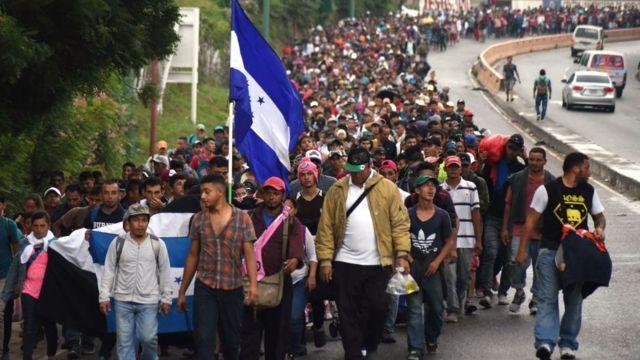 ABD - Meksika sınırına ilerleyen göçmenler