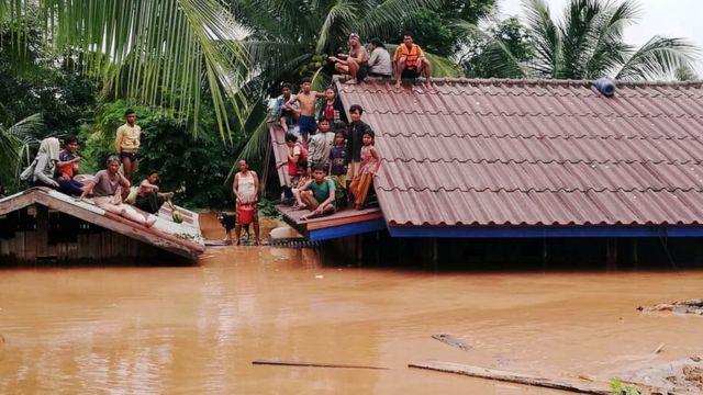 Dam jebol di Laos tenggara