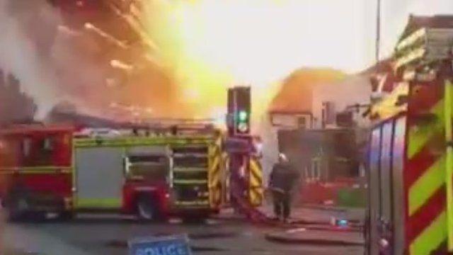 Fireworks fire