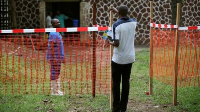 One of di isolation centre wey dem arrange to control di spread of Ebola inside Mbandaka