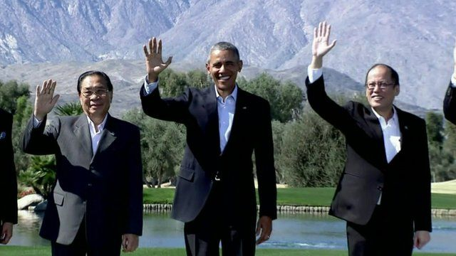 President Obama with South east Asian leaders in California