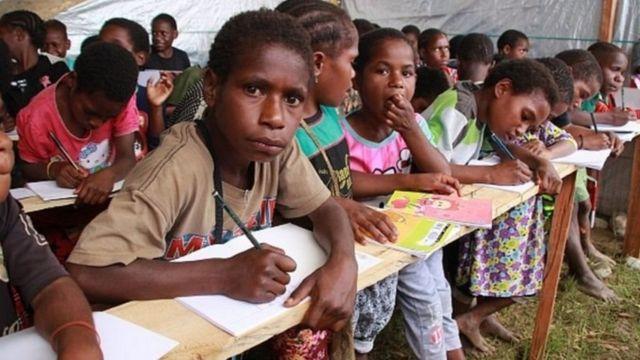 Anak-anak pengungsi dari Kabupaten Nduga, Papua