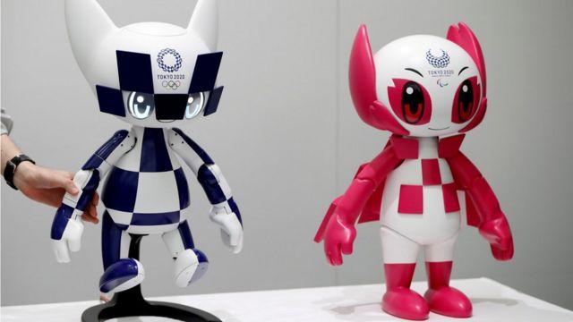Tokyo 2020 mascot robots Miraitowa and Someity