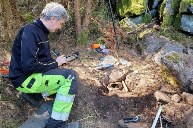 Arkeolog Mats Hellgren