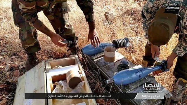 گروه انصار الاسلام تصاویری از فعالیت نیروهای خود در شمال غربی سوریه منتشر کرده است