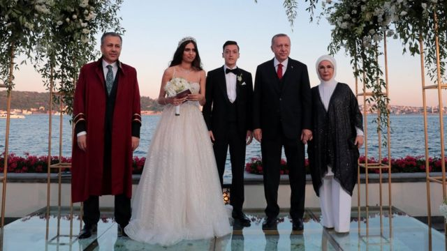 Turkey's Erdogan is best man at footballer Mesut Ozil's wedding