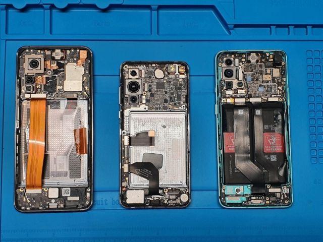 Os celulares de Xiaomi, Huawei e OnePlus que foram examinados pelo Ministério da Defesa da Lituânia