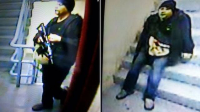 カジノの防犯カメラが捉えた銃撃犯の様子