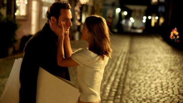 romantic scene from Love Actually