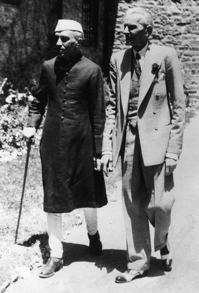 पंडित नेहरू के साथ जिन्ना